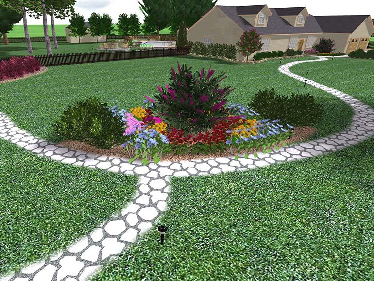 Landscape design software by idea spectrum for Garden design 3d tools