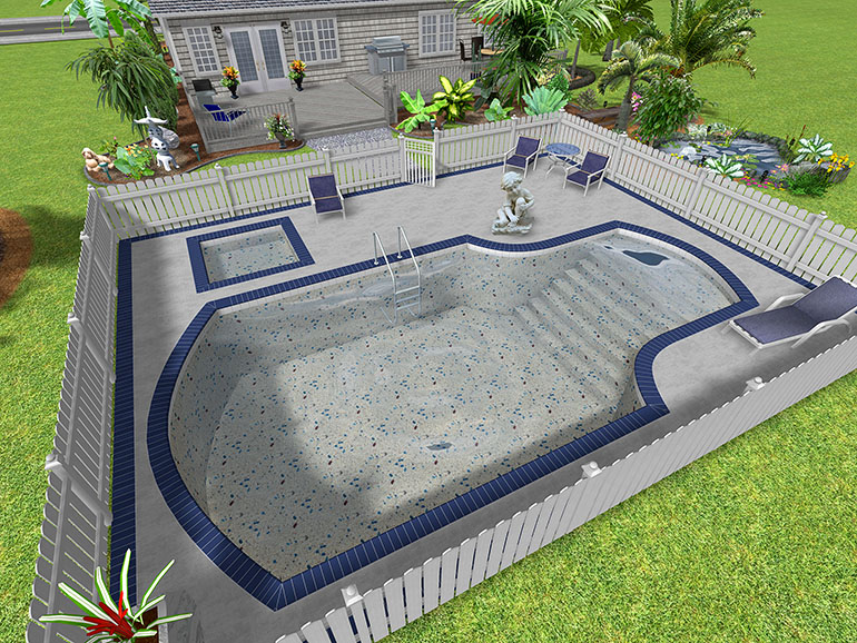 Landscape design software gallery page 1 for Design your own inground pool