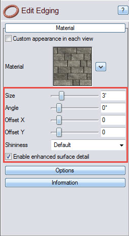 Edging options to further customize your landscape