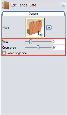 Click the model image for more fence gate style options