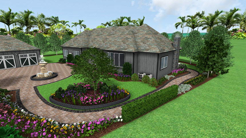 Completed hedge tutorial using Realtime Landscaping Architect