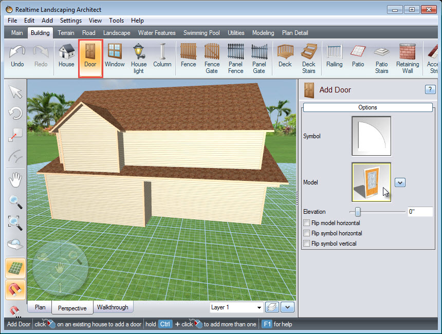 Add a door model to your house design