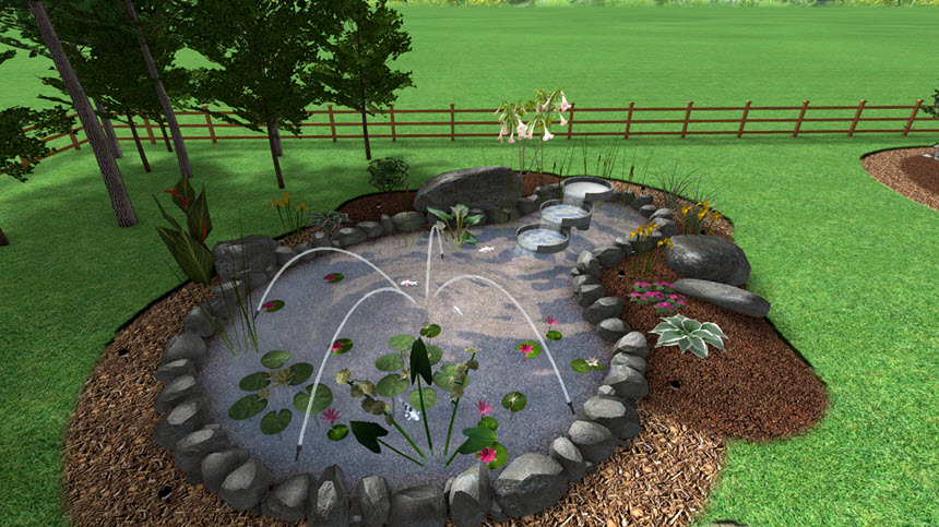 You have completed the jumping jets tutorial using Realtime Landscaping Architect
