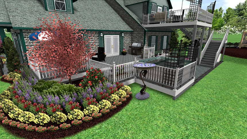 You have completed adding a picture to your landscape design using Realtime Landscaping Architect