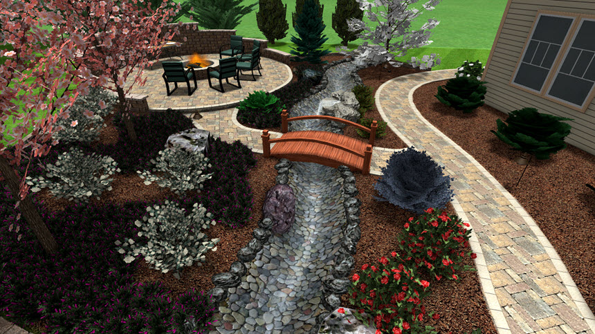 You have completed this tutorial and added a 3D stream using Realtime Landscaping Architect