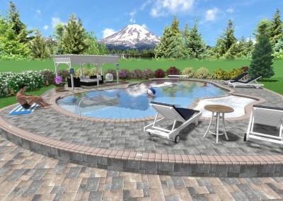 3D Landscape Design with Pool