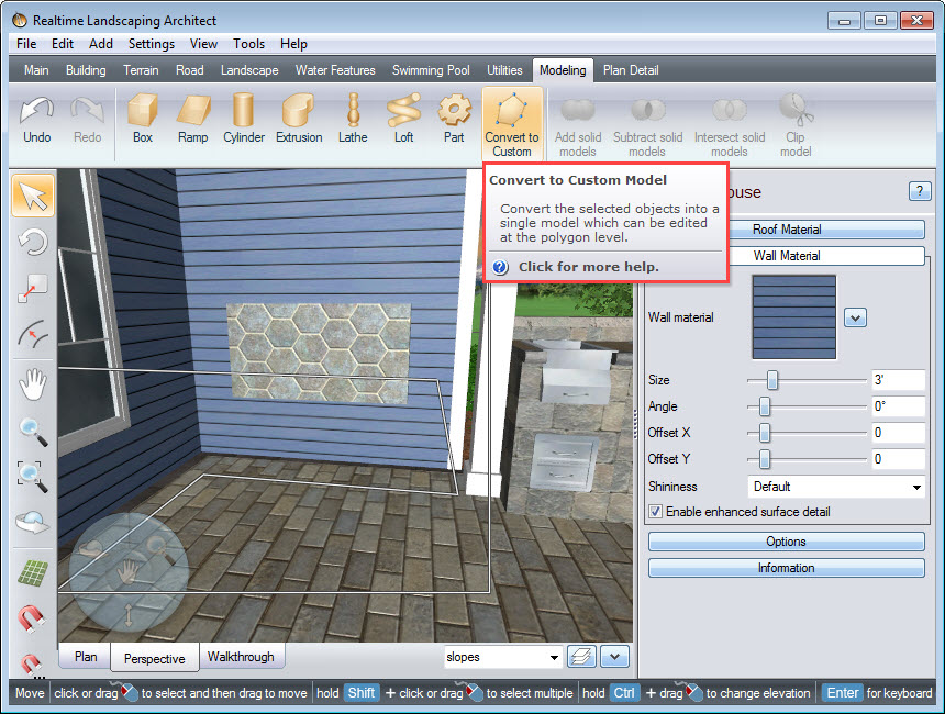 Convert the house into a Custom Model