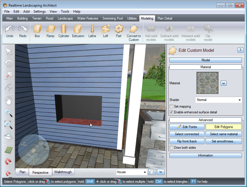 Customize the materials used in your fireplace