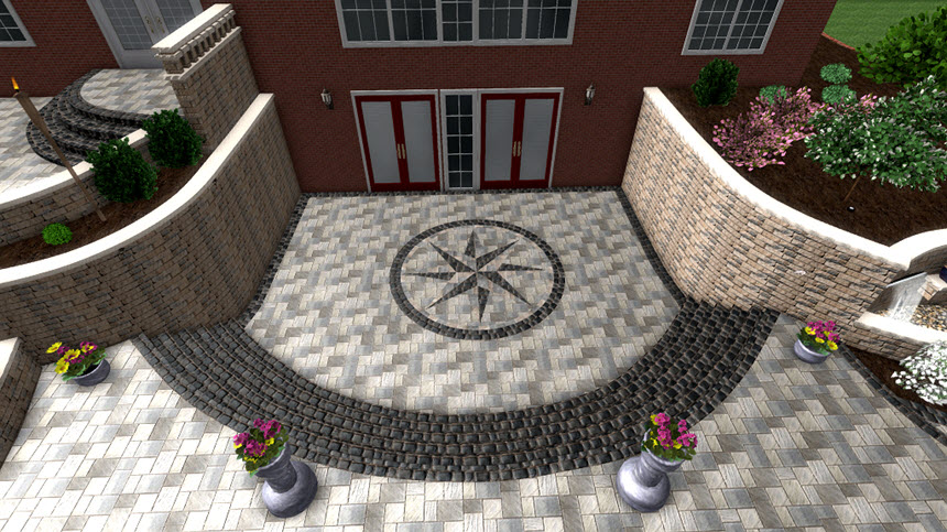 You have completed adding an accent using Realtime Landscaping Architect