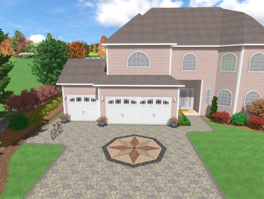 You have completed adding an accent using Realtime Landscaping Pro
