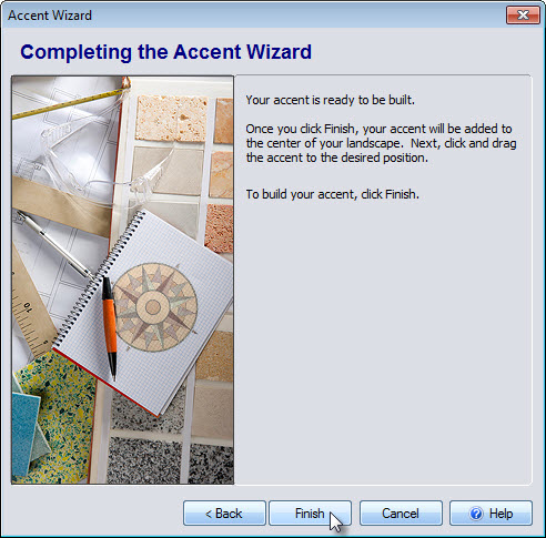 Click Finish to complete the last step of the Accent Wizard