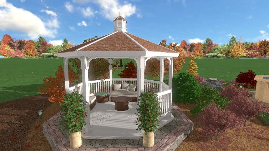 Completed custom accessory using our user-friendly landscaping software