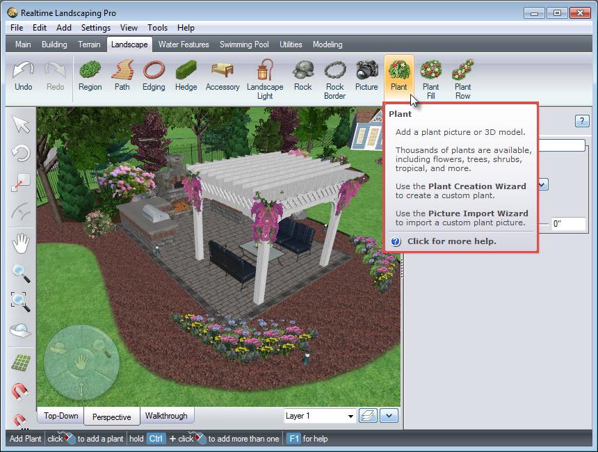 Add a plant to your landscape design
