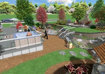 Backyard Pond Landscape Design