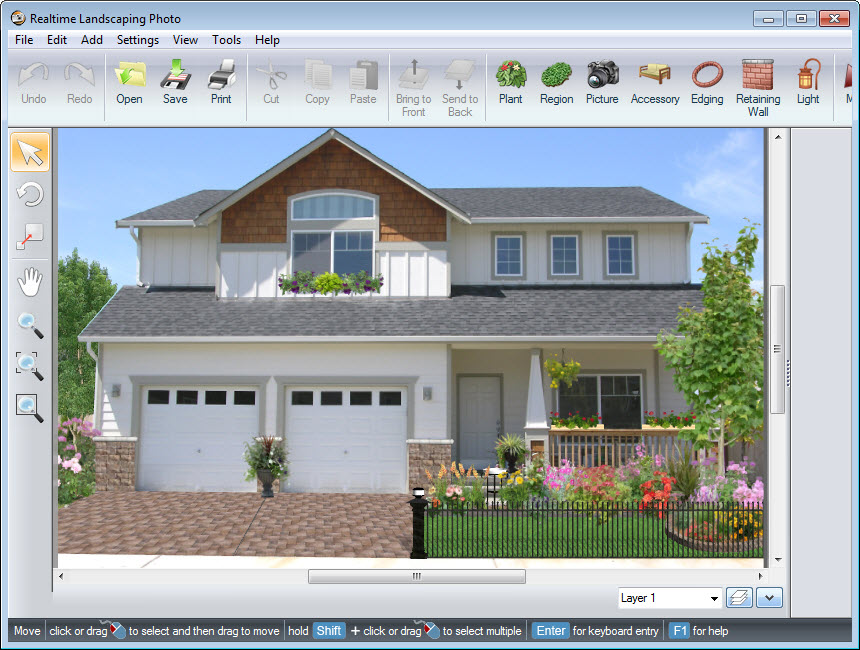 Completed design made using Realtime Landscaping Photo