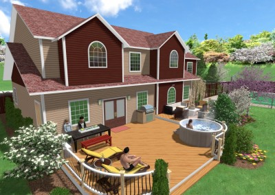 Deck Design with a Hot Tub