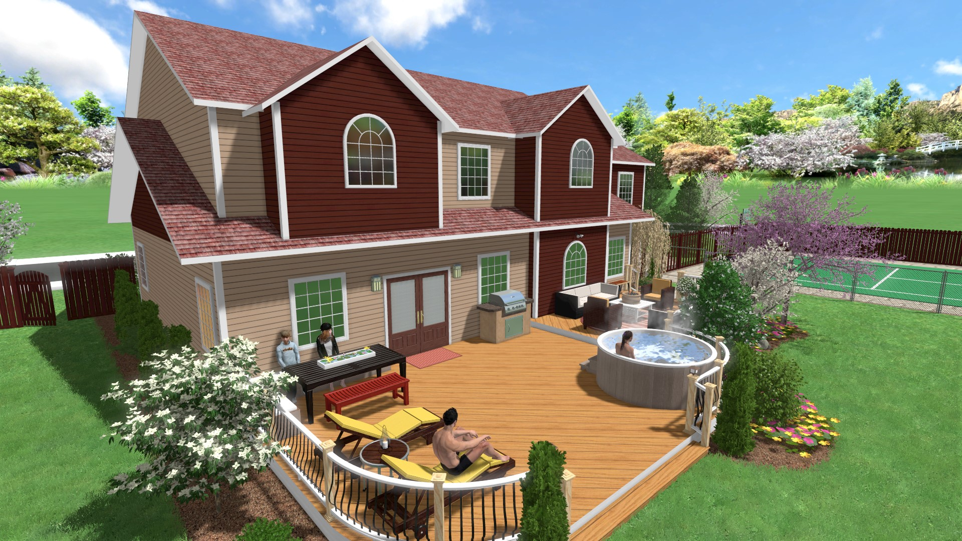 Add 3D People to your Landscape Designs