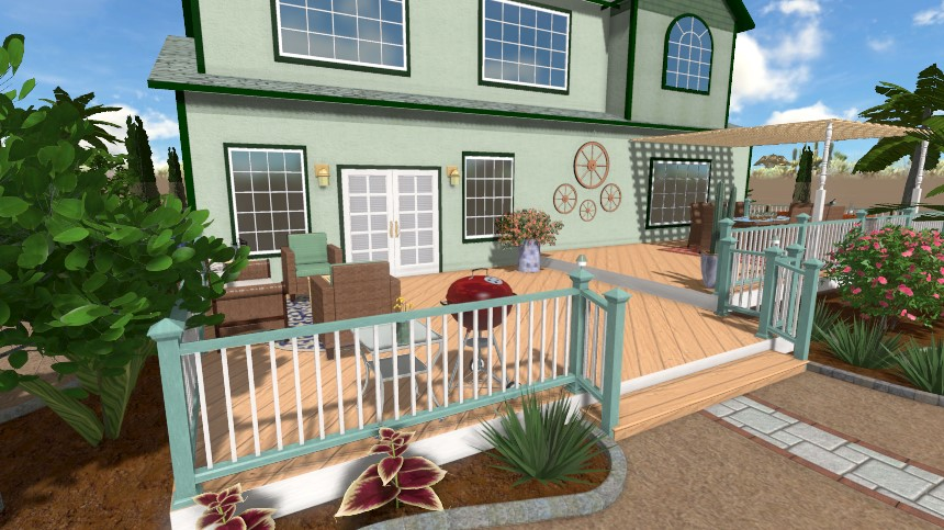 You have now completed adding deck stairs using Realtime Landscaping Plus