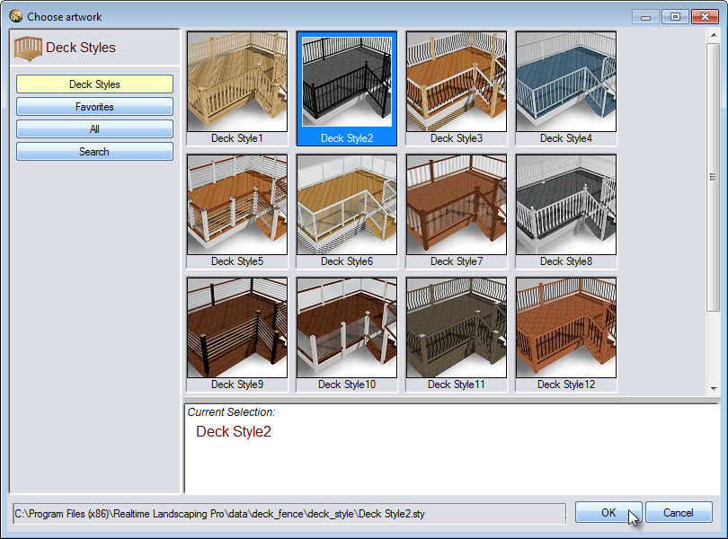 Click the image to take you to a large selection of deck styles