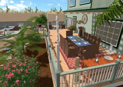 Desert Landscape Design with Deck