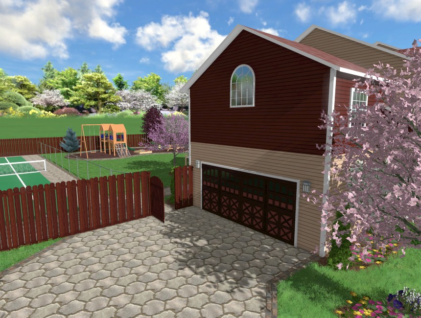 You have now completed adding a fence using Realtime Landscaping Pro