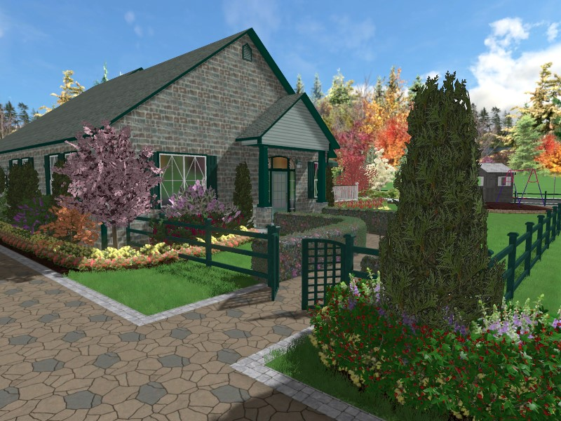 You have now completed adding a fence using Realtime Landscaping Plus