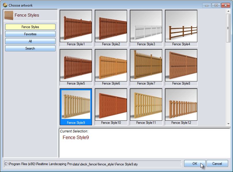Make a selection from the variety of fence models available