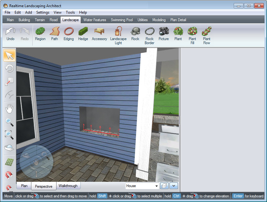 Position your glass panel in front of your inset fireplace