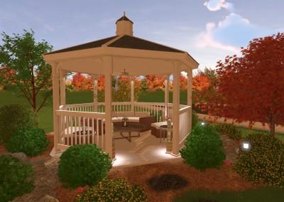 Landscape Design with Gazebo
