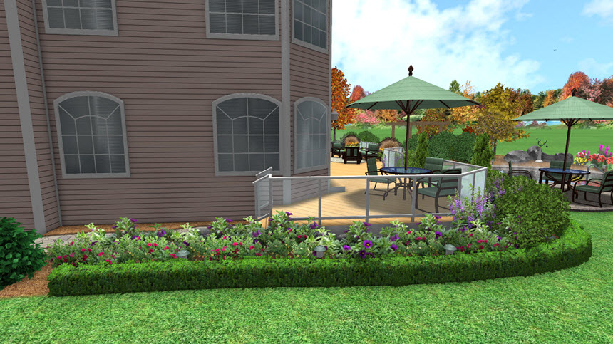 Completed hedge tutorial using Realtime Landscaping Pro