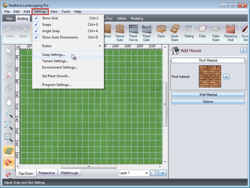 Customize the grid settings