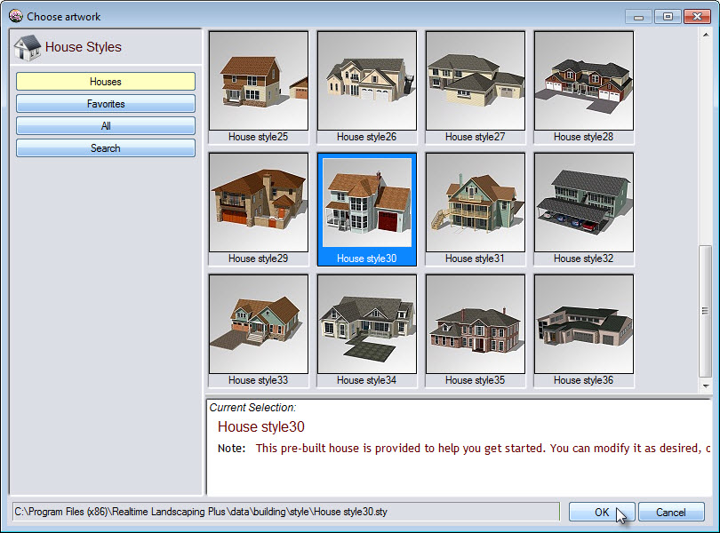 Select your desired house model
