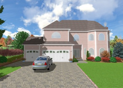 Landscape Design with Front Yard and Driveway