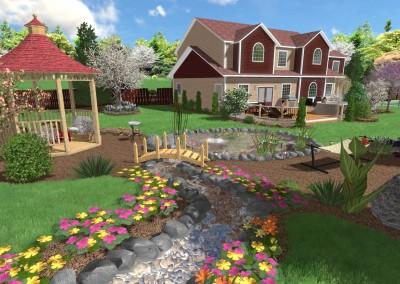 Landscape Design with a Small Stream