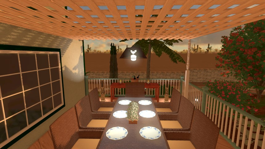 You have completed adding a pendant light to your landscape design