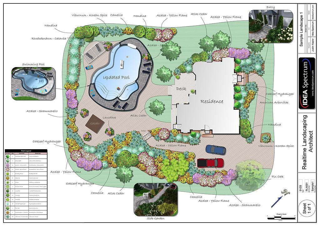 Landscape Design Plan View