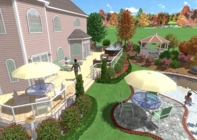 Swimming Pool Created with Realtime Landscaping Pro