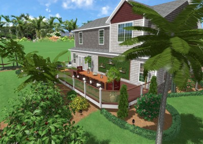 Landscape with Deck Design