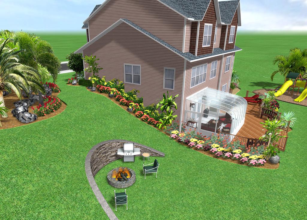 Landscape Design with Terrain Modifications