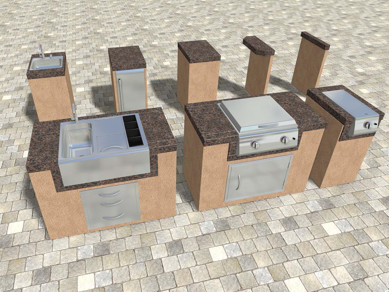 Modular Outdoor Kitchen Components
