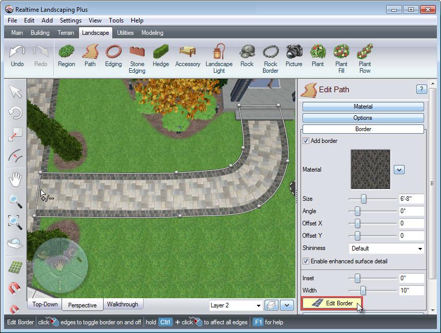Edit path border