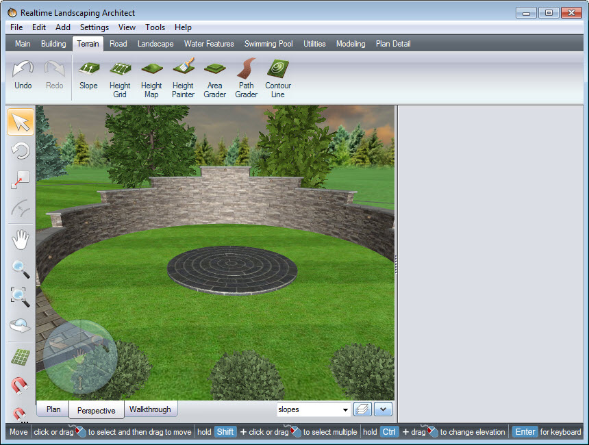 Copy, paste and scale to create your custom patio