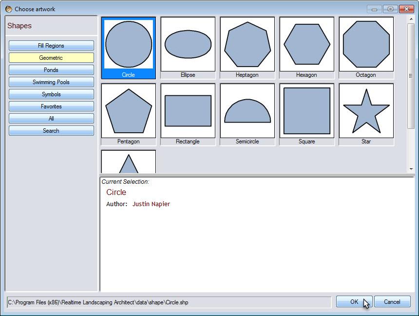 Use load shape to add premade geometric shapes