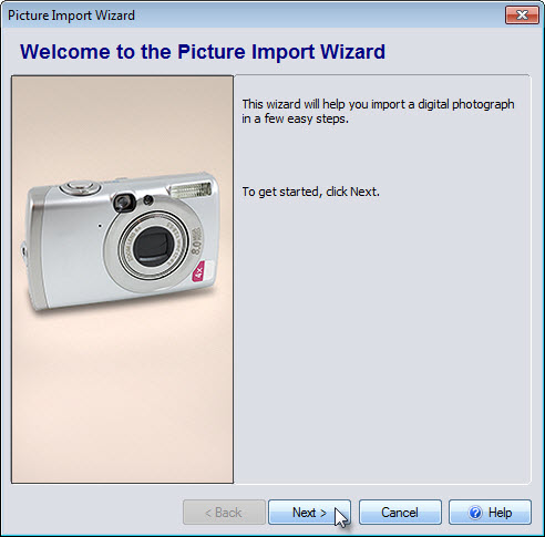 Welcome to the Picture Import Wizard
