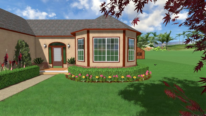 Completed plant row added using our user-friendly software