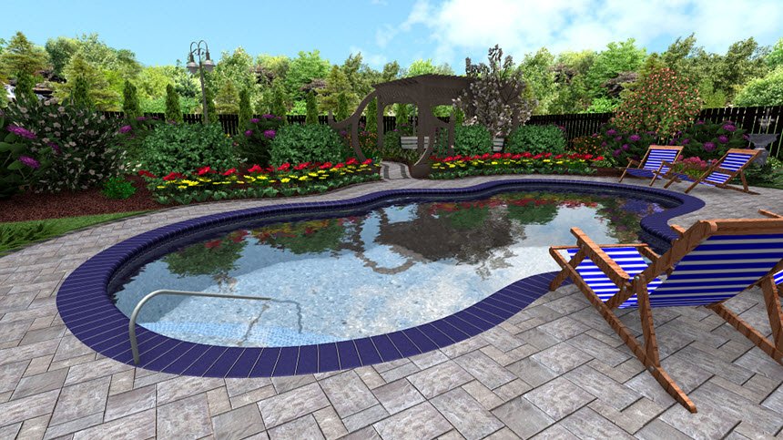You have now completed adding a pool accessory to your landscape design