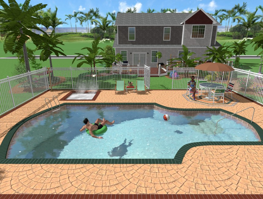 You have completed adding your pool using our Realtime 3D Landscaping Pro