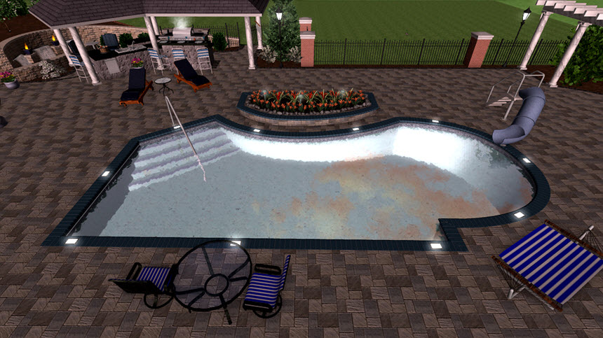 You have completed adding your pool using our Realtime 3D Landscaping Architect