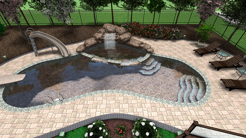 You have now completed adding pool decking