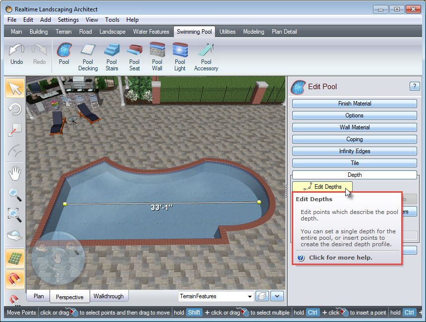 Edit your pool depth